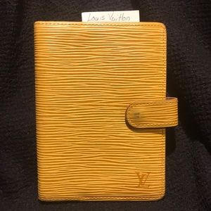 Louis Vuitton address book made in Spain yellow